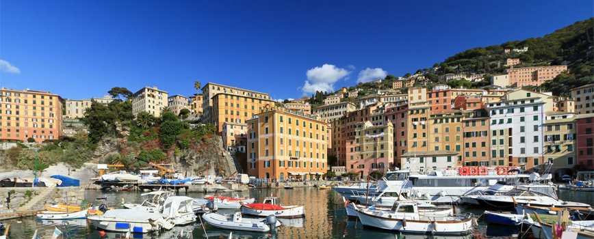 The Camogli marina